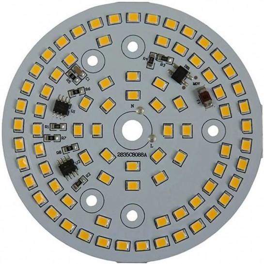 Platine AC LED 40 watts à alimentation transistorisé 230V - 80 LEDs 5730 - Ø 107 mm