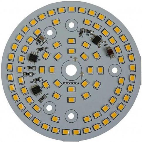 Platine AC LED 18 watts à alimentation transistorisé 230V - 80 LED 2835 - Ø 88 mm