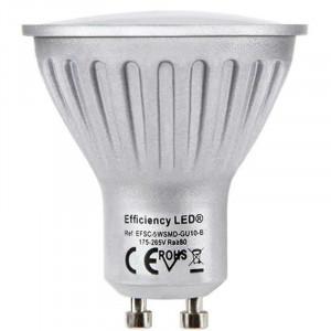 Amazing LED GU10 - Spectra Color 327 Lumens 5 w → 50 watts