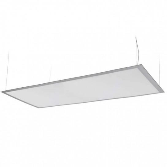 Panneau lumineux LEDs suspendu par câbles 80 watts 400 x 1400 mm