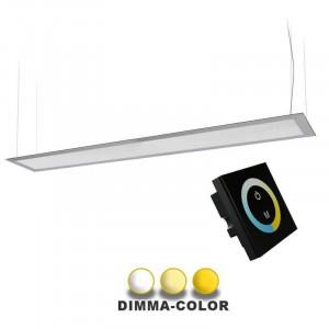 Panneau DIMMA-COLOR suspendu 45W 160 x 1200mm commande murale