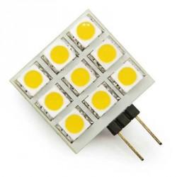 9 leds SMD - carré - 10 à 25 volts - Culot G4