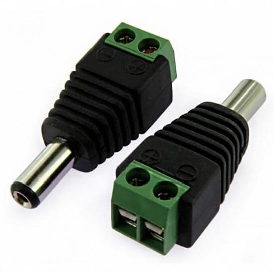 Raccord mâle Jack 2.5 mm pour connection Strip LED