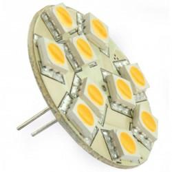 Ampoule 10 LED type 5050 SMD 10 à 30 volts culot G4 Coaxial