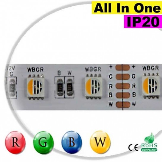 "Strip LEDs RGB-WW IP20 - LED ""All in one"" 5 mètres"