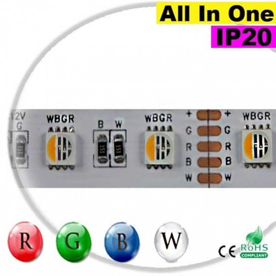 "Strip LEDs RGB-W IP20 - LED ""All in one"" 30 mètres"