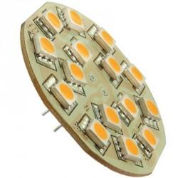 15 LEDs SMD - 10 à 30 volts Culot G4 Coaxial