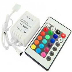 Contrôleur LED RGB Télécommande 24 touches Infra Rouge