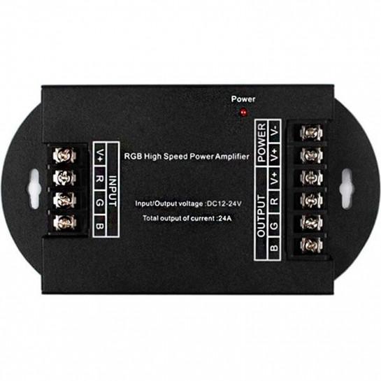 Amplificateur de signal LED RGB - 24 ampères