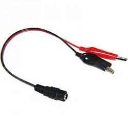 Pince crocodile isolée rouge / noir et prise jack femelle avec cable