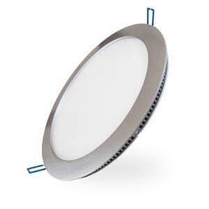 Panneau lumineux LEDs encastré ultra plat 15W diamètre 240mm