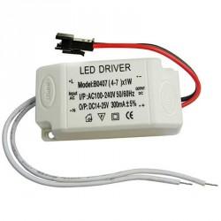 Boitier d'alimentation LED à courant constant de 4 à 7 watts 300 mA