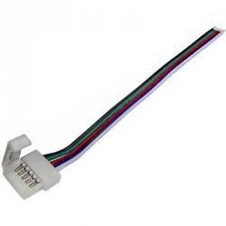 Boitier de raccordement pour Strips LED RGB W Clips-connect et câbles Circuit board à 5 pistes