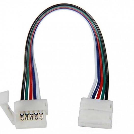 Deux boitiers de raccordement Clips-connect sur câbles pour Strips LEDs RGB W Circuit board à 5 pistes