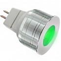 Ampoule LED MR11 High Power couleur verte LED de puissance de 3 watts