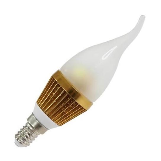 Ampoule leds Flamme coup de vent E14 - 3 x 1 watt MCOB Or