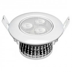 Downlight LEDs 3 watts encastré orientable