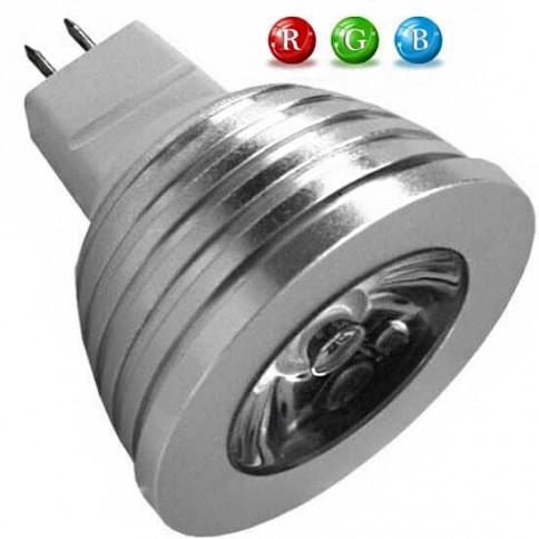 Ampoule LED MR16 RVB 3 Watts + télécommande IR