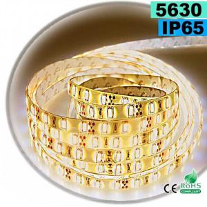 Strip Led blanc chaud SMD 5630 IP65 60leds/m 5m