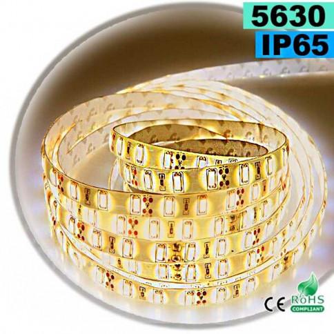Strip Led blanc chaud SMD 5630 IP65 60 led / m 30 mètres