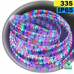 Strip Led latérale SMD 335 RGB - IP65 120leds/m 5m