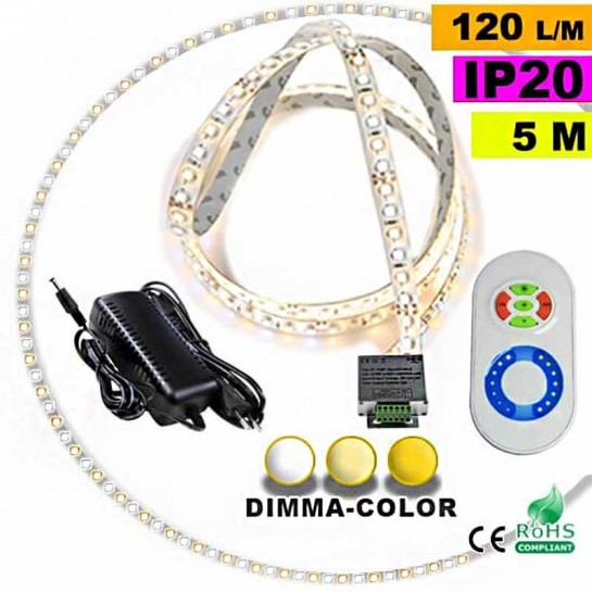 Pack Strip Led 30 mètres Dimma Color 3528 ip20 120 leds