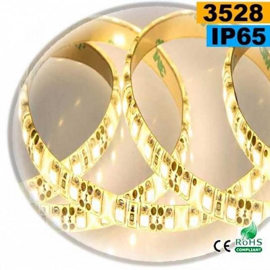 Strip Led blanc chaud SMD 3528 IP65 120leds/m 5 mètres