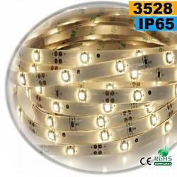 Strip Led blanc chaud leger SMD 3528 IP65 30leds/m sur mesure