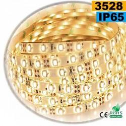 Strip Led blanc chaud leger SMD 3528 IP65 60leds/m 30m