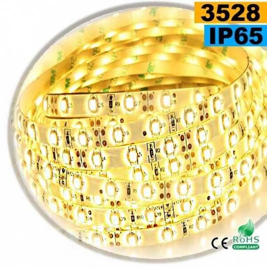 Strip Led blanc chaud SMD 3528 IP65 60leds/m 30 mètres