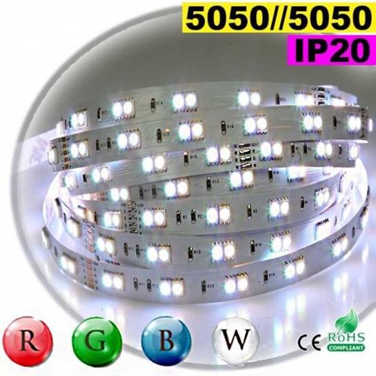 Strip LEDs RGB-W IP20 - Double assemblage juxtaposer de LEDs 5050 30 mètres