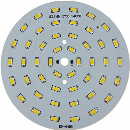 Platine 48 LEDS 5730 de 24 Watts Ø112mm