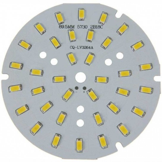 Platine 36 LEDS 5730 de 18 Watts Ø90mm