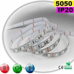 Strip Led RGB SMD 5050 IP20 60leds/m rouleau sur mesure