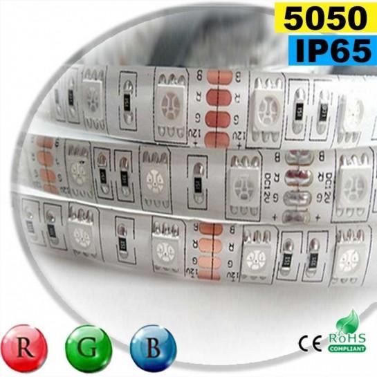 Strip Led RGB SMD 5050 IP65 60leds/m rouleau de 30 mètres