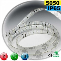 Strip Led RGB SMD 5050 IP65 30leds/m rouleau sur mesure