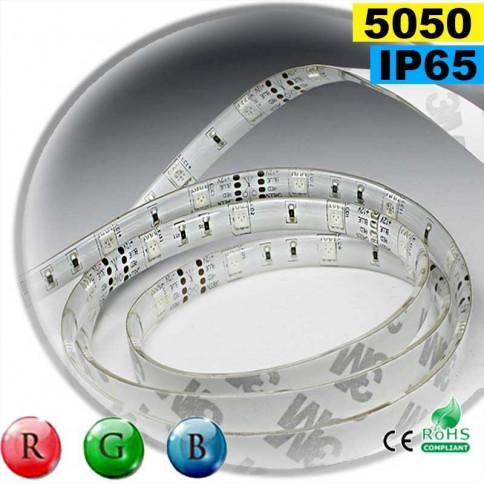 Strip Led RGB SMD 5050 IP65 30leds/m rouleau sur mesure