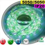 Strip Led RGB-W IP20 60leds/m SMD 5050 5m