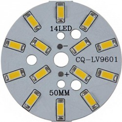 Platine 14 LEDS 5730 de 7 Watts Ø50mm