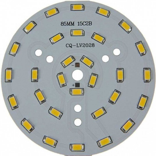 Platine 30 LEDS 5730 de 15 Watts Ø85mm