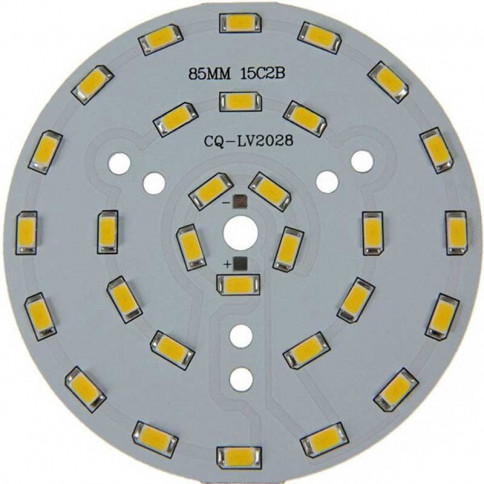 Platine 30 LEDS 5730 de 15 Watts Ø85mm