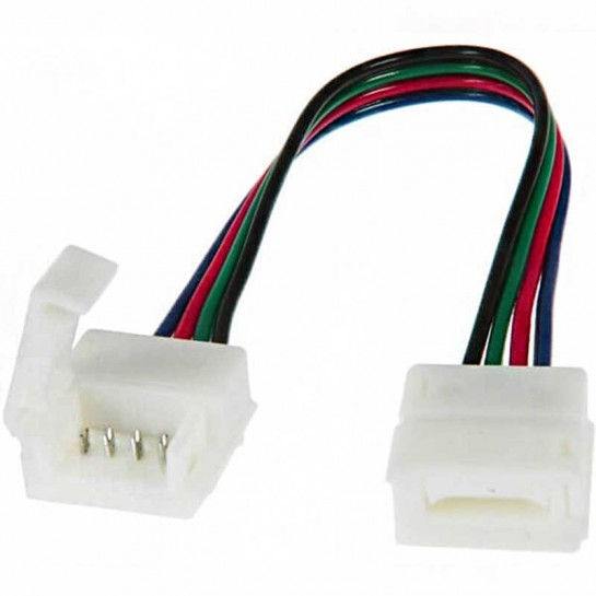 Deux boitiers de raccordement Clips-Grip connect sur câbles pour Strips LEDs RGB