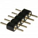 Double raccord 5 pins noir pour strip leds RGB W