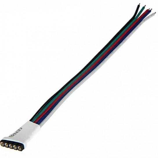 Prise 5 pins femelle avec cable pour strip LED RGB W