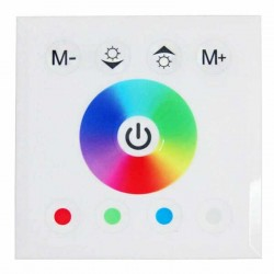 Controleur LED RGB-W tactile mural