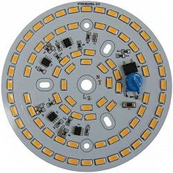 Platine AC LED 30 watts à alimentation transistorisé 230V - 80 LEDs 5730 - Ø 107mm