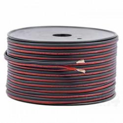 Fil élèctrique plat rouge noir 2 fils 0.3mm² longueur de 1m