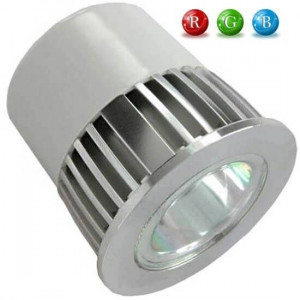 Ampoule LED MR16 RVB 5 Watts + télécommande IR