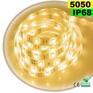 Strip Led blanc chaud SMD 5050 IP68 30leds/m 5m