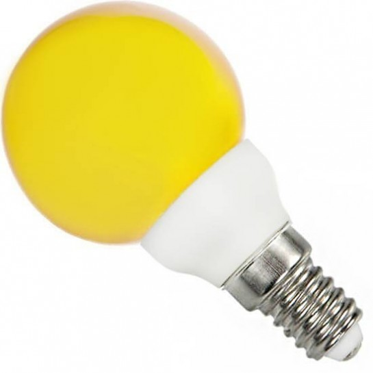Ampoule sphériqueE14 jaune 220 volts 0.5 Watt